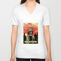 grimes V-neck T-shirts featuring Walker Grimes by Stationjack