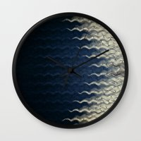 wave Wall Clocks featuring Wave by thinschi