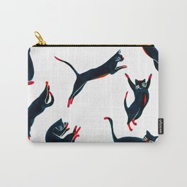 Cats on the move pattern Carry-All Pouch