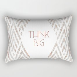 Graphic Art THINK BIG | rose gold & marble Rectangular Pillow