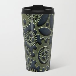 Gold Cogs Travel Mug