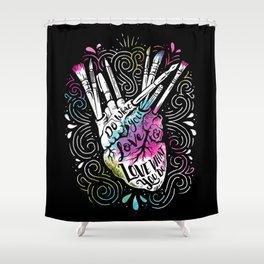 A Heart For Art Shower Curtain