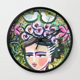 Mexico Whimsical Art Wall Clock