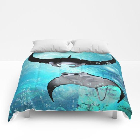 Manta Rays Comforters