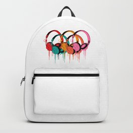 Colorful Headphones Backpack