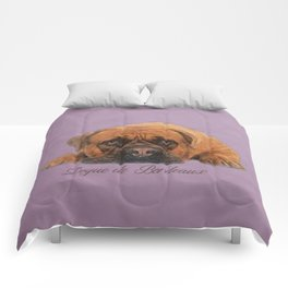 Dogue de Bordeaux Sketch Digital Art Comforters