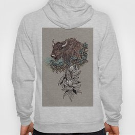 Buffalo Wildflower and Magnolias Hoody