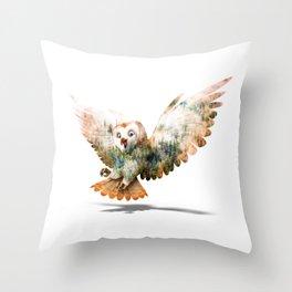OWL NATURE Throw Pillow