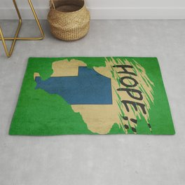 Hope!! (time machine ) Rug