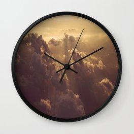 Matthew's Clouds in Sunlight Wall Clock