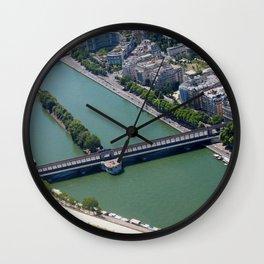 Overlooking the Seine Wall Clock