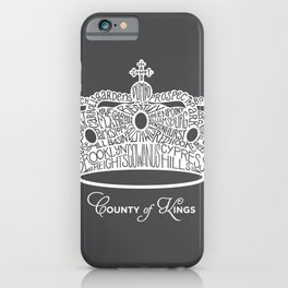 County of Kings | Brooklyn NYC Crown (WHITE) iPhone Case