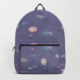 Purple Lanterns Pattern Backpack