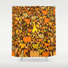 Duck in a Pumpkin Patch Shower Curtain