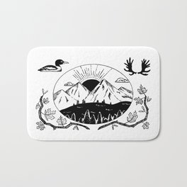 Canadian Mountain Range Bath Mat