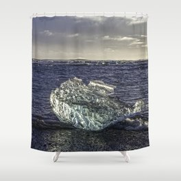 Jokulsarlon Lagoon Beach 02 Shower Curtain