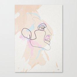 One Line Javier Bardem Canvas Print