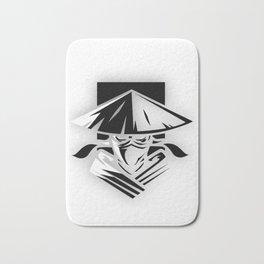 Martial Arts, Assasin, Black and white Bath Mat