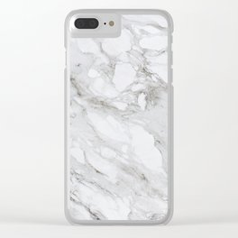 Calacatta Marble Clear iPhone Case