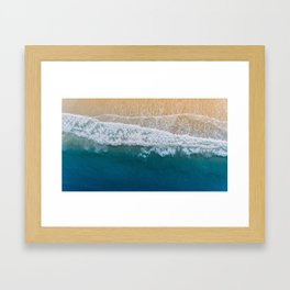 Water on the Beach (Color) Framed Art Print
