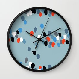Patchwork Stripes Wall Clock