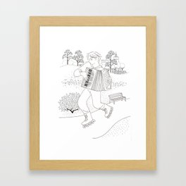 the accordeonist Framed Art Print