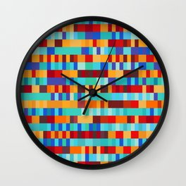 Bach Invention (Fire and Iceberg Colours) Wall Clock