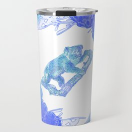 Australian Native Floral Print with Koala Travel Mug
