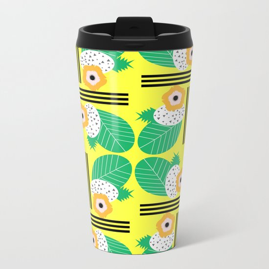 Tropical joy Metal Travel Mug