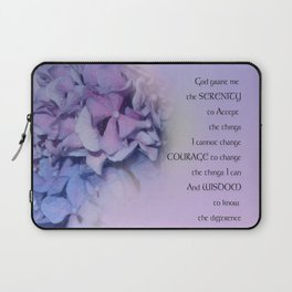 Serenity Prayer Hydrangeas Harmony Lavender Laptop Sleeve