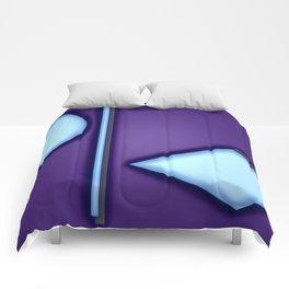 Blue lights Comforters