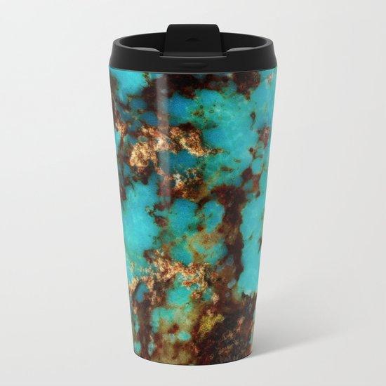 Turquoise I Metal Travel Mug