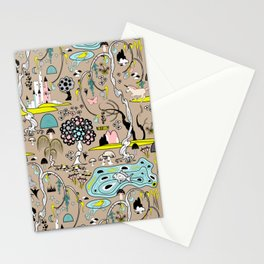 Magical Garden (Beige) Stationery Cards