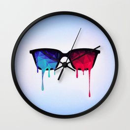 3D Psychedelic / Goa Meditation Glasses (low poly) Wall Clock