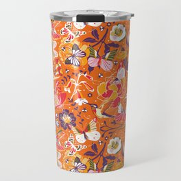 Garden pollinators   orange Travel Mug