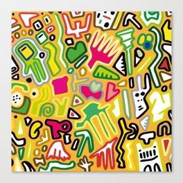 color doodle Canvas Print