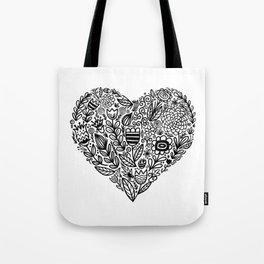 heart bloom Tote Bag