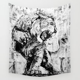 "Carmine the Lion ""Silver Version"" Wall Tapestry"
