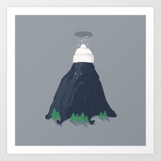 lil snow-capped mountain Art Print