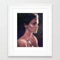 emma watson Framed Art Prints featuring Emma Watson by Isabella Morawetz