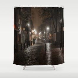 Foggy night in Salem Shower Curtain