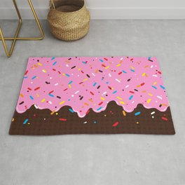 Sweet Pink Chocolate Treat Rug