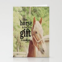 arab Stationery Cards featuring Horse Quote Arab proverb by KimberosePhotography