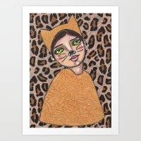 Inara the Cat Girl Art Print