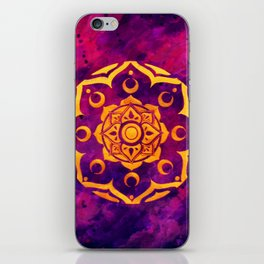 """Witchcraft""  WATERCOLOR MANDALA (HAND PAINTED) BY ILSE QUEZADA iPhone Skin"