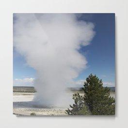 Cloud Of Steam and Water Metal Print