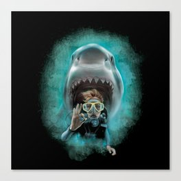 Shark! Canvas Print