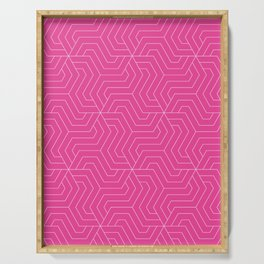 Barbie Pink - pink - Modern Vector Seamless Pattern Serving Tray