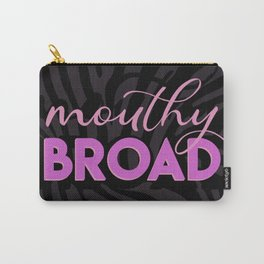 Mouthy Broad Pouches Black Carry-All Pouch
