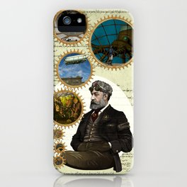 Jules Verne, a Steampunk vision iPhone Case